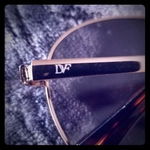 DVF Marchon Aviator Sunglasses